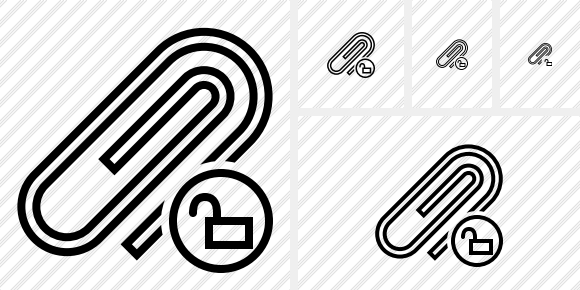 Paperclip Unlock Icon