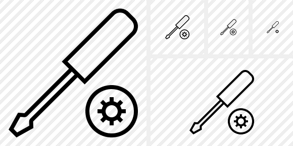 Screwdriver Settings Icon