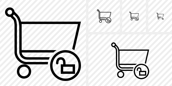 Shopping Unlock Icon