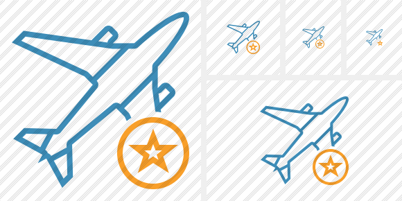 Airplane Star Icon