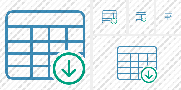 Database Table Download Icon