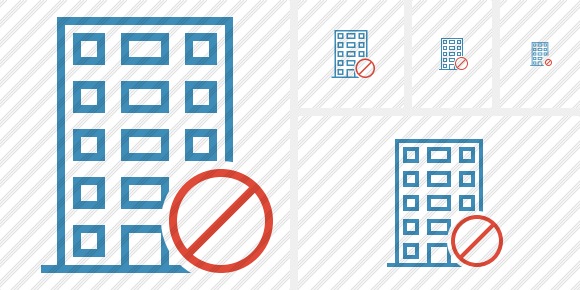 Office Building Block Icon