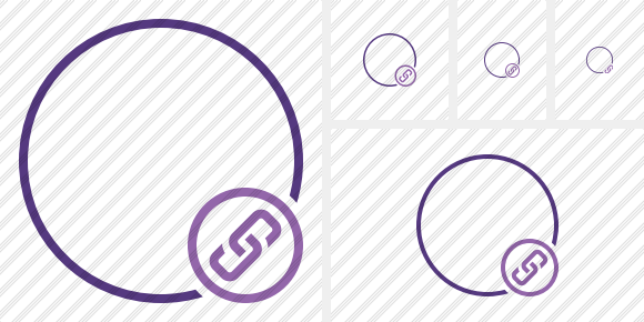 Point Purple Link Icon