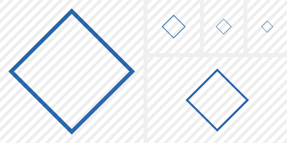 Rhombus Blue Icon