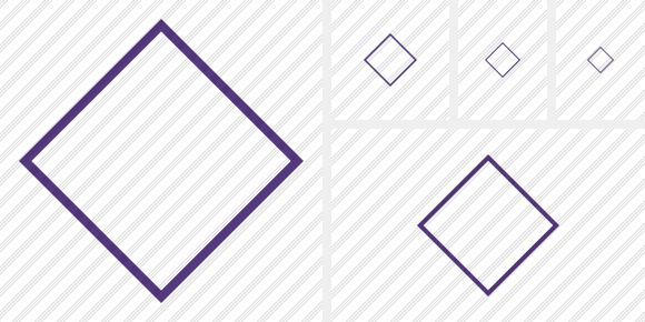 Rhombus Purple Icon