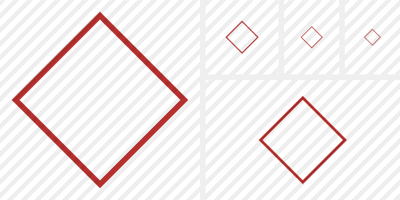 Rhombus Red Icon