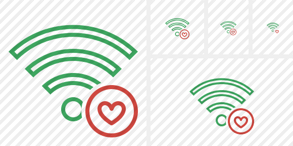 Wi Fi Green Favorites Icon