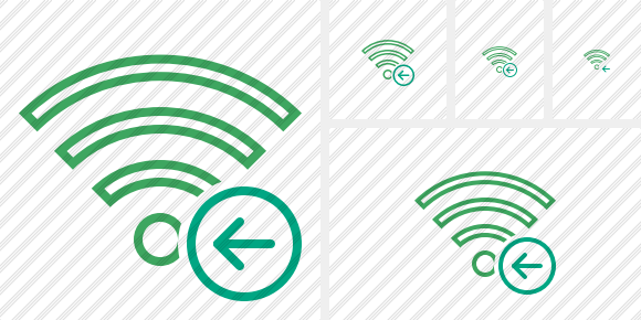 Wi Fi Green Previous Icon