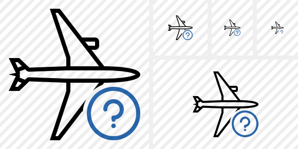 Airplane Horizontal Help Icon