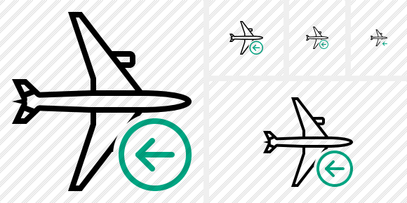 Airplane Horizontal Previous Icon
