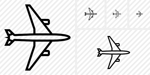 Airplane Horizontal Icon