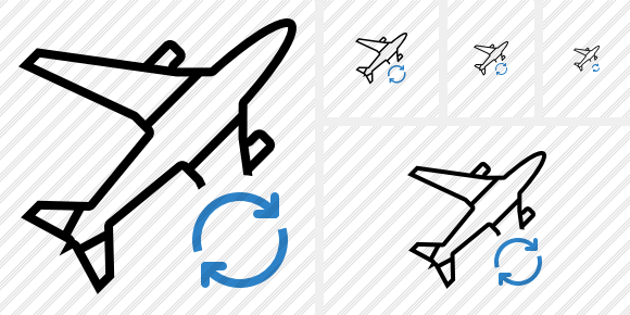 Airplane Refresh Icon