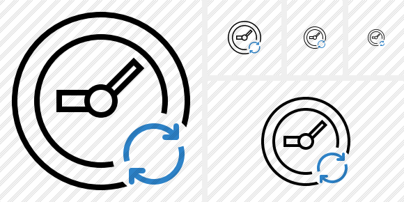 Clock Refresh Icon