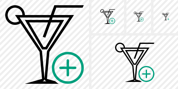 Cocktail Add Icon