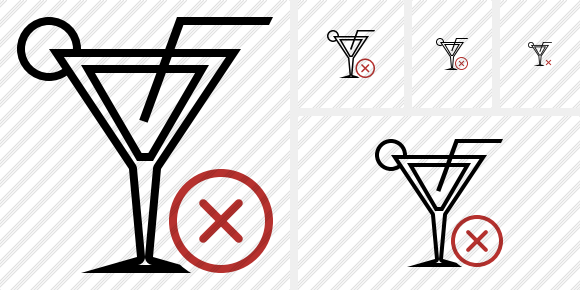 Cocktail Cancel Icon