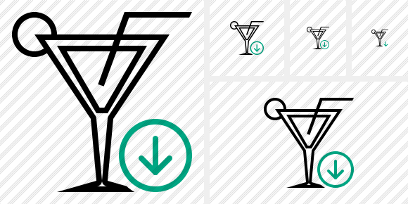 Cocktail Download Icon