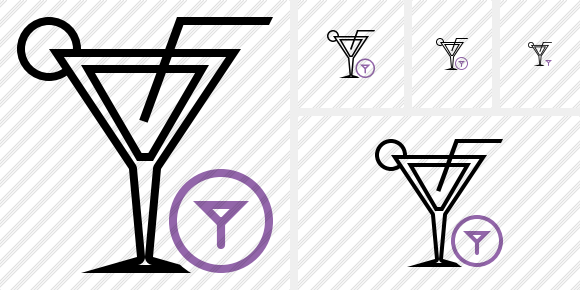 Cocktail Filter Icon