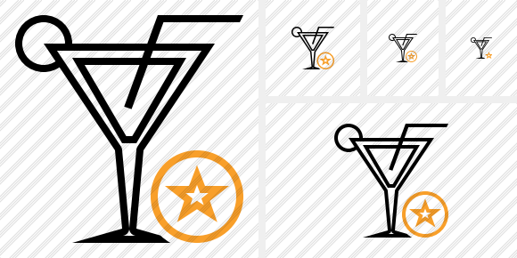 Cocktail Star Icon