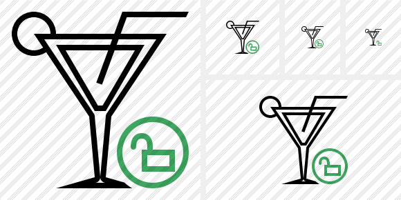 Cocktail Unlock Icon