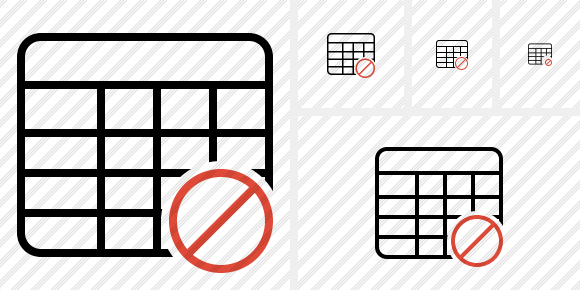 Database Table Block Icon