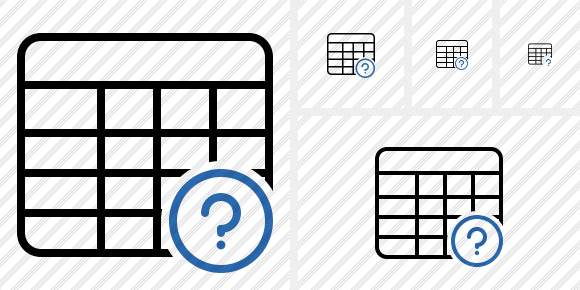 Database Table Help Icon