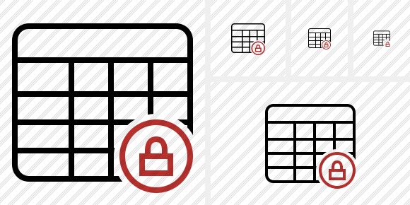 Database Table Lock Icon