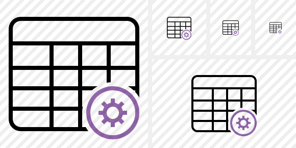 Database Table Settings Icon