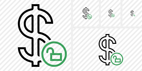 Dollar Unlock Icon