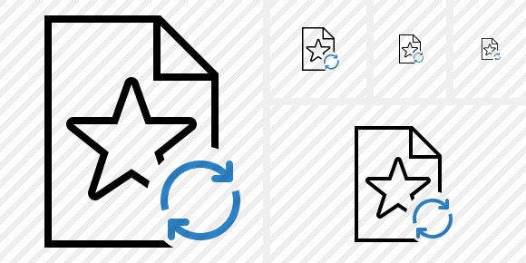File Star Refresh Icon
