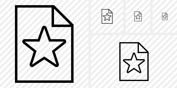 File Star Icon