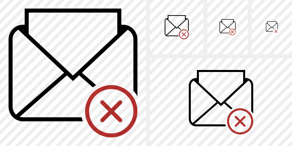 Mail Read Cancel Icon