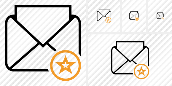 Mail Read Star Icon