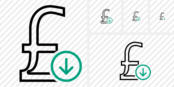 Pound Download Icon