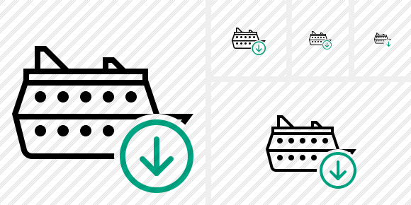 Ship Download Icon