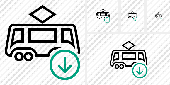Tram Download Icon