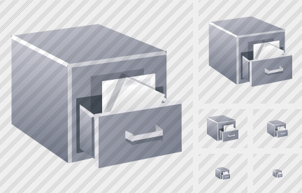 Filing Cabinet Icon Realistic Professional Stock Icon