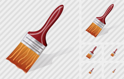 Flat Brush Icon