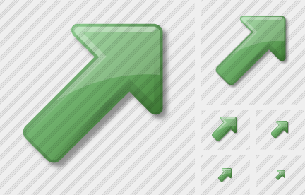 Arrow Up Right Green Icon