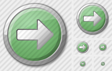 Arrow 2 Right Green Icon