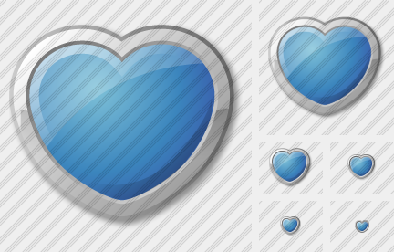 Icone Heart Blue