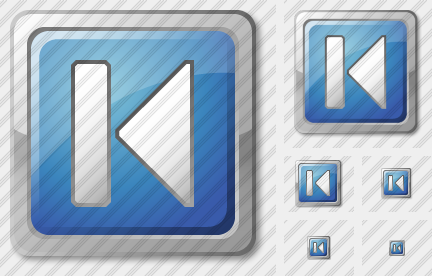 Media Prev Blue Icon