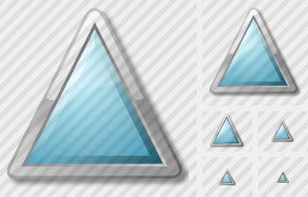 Triangle Cyan Icon