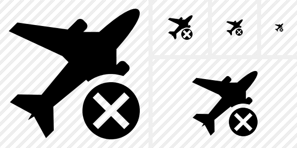 Airplane Cancel Icon