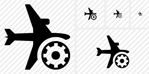 Airplane Horizontal Settings Icon
