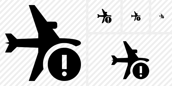 Airplane Horizontal Warning Icon