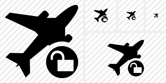Airplane Unlock Icon