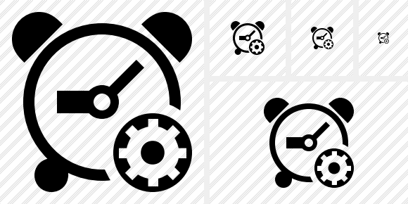 Alarm Clock Settings Icon