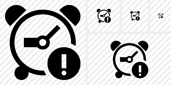 Alarm Clock Warning Icon
