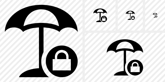 Beach Umbrella Lock Icon