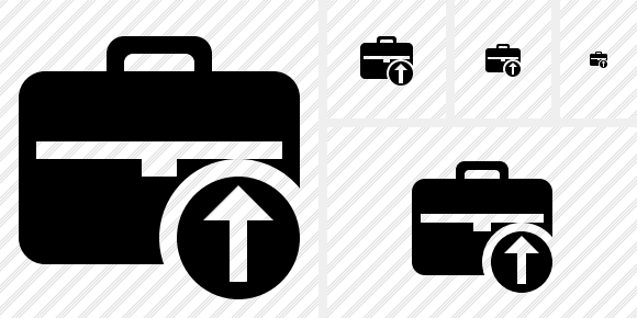 Briefcase Upload Icon